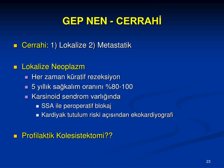 GEP NEN - CERRAHİ