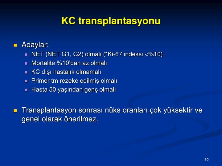 KC transplantasyonu