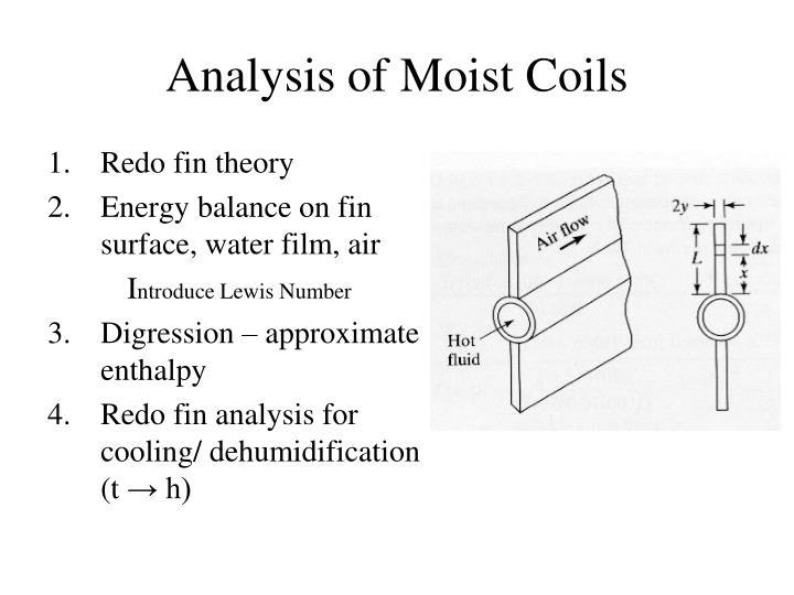 Analysis of Moist Coils