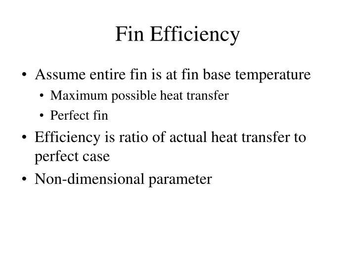 Fin Efficiency