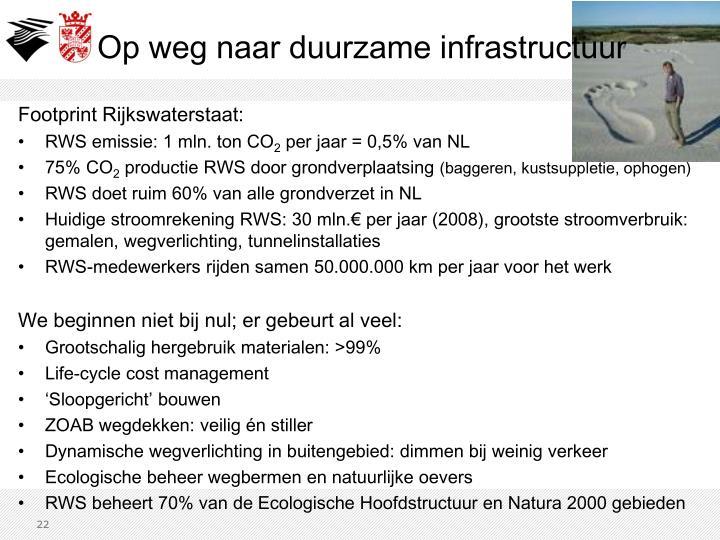 Footprint Rijkswaterstaat: