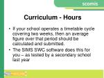 curriculum hours