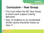 curriculum year group