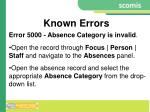 known errors4