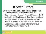known errors6