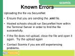 known errors8