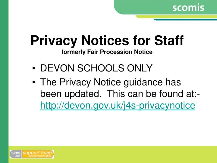 Privacy Notices for Staff