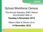 school workforce census