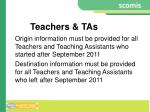 teachers tas
