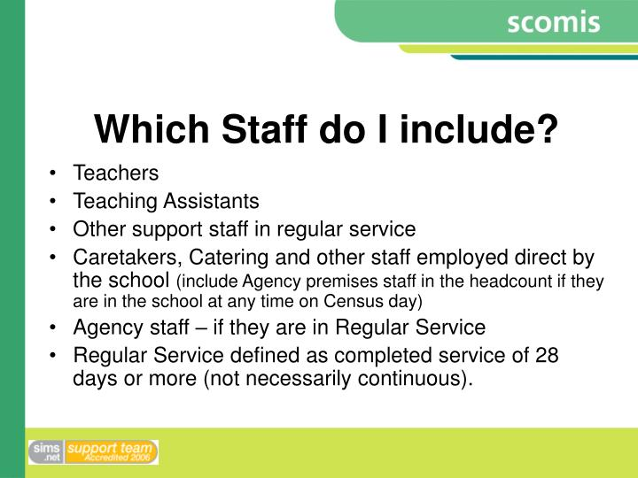 Which Staff do I include?