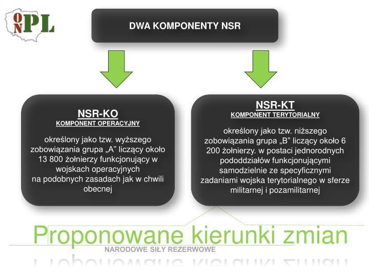 DWA KOMPONENTY NSR