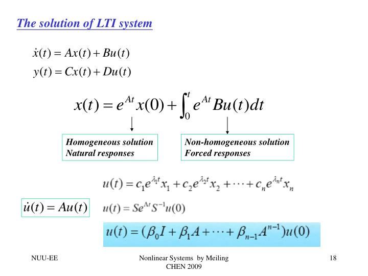 The solution of LTI system
