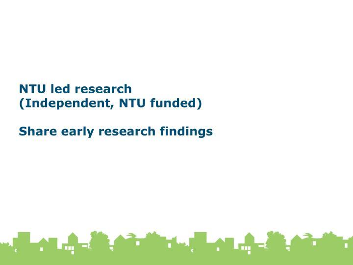 NTU led research