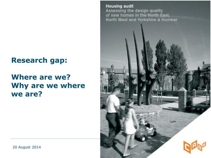 Research gap: