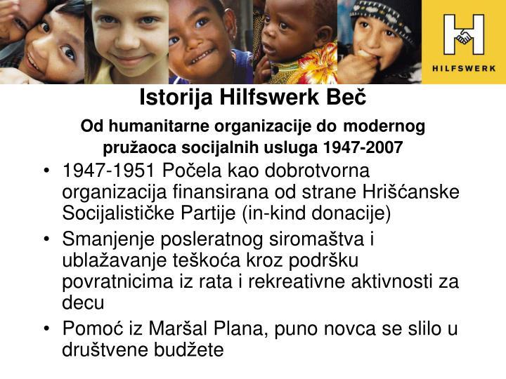 Istorija Hilfswerk Be
