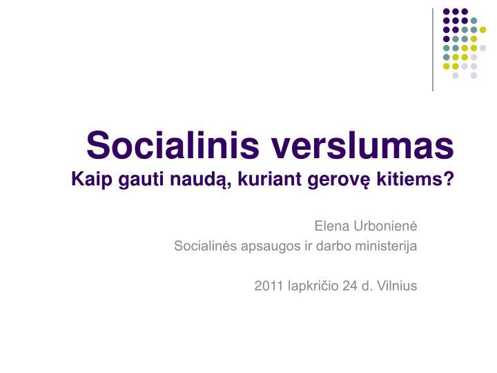Socialinis verslumas