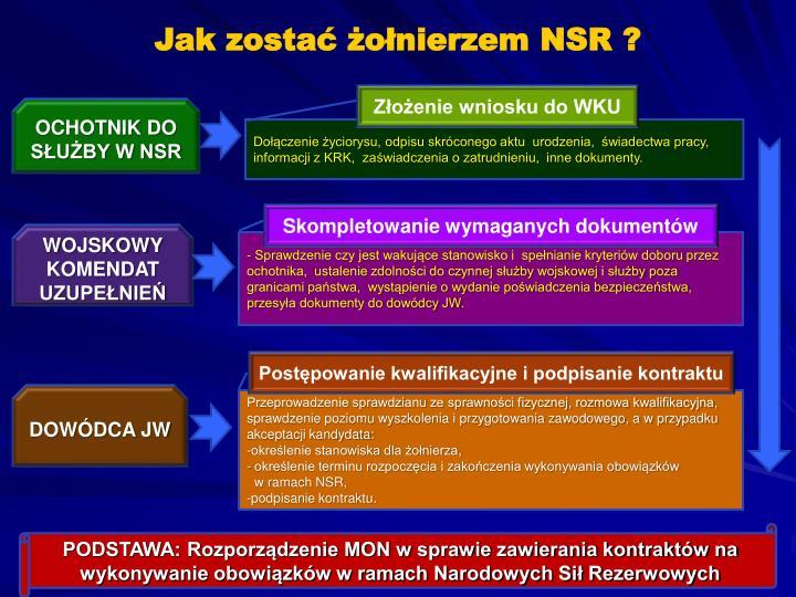 Jak zostać żołnierzem NSR ?