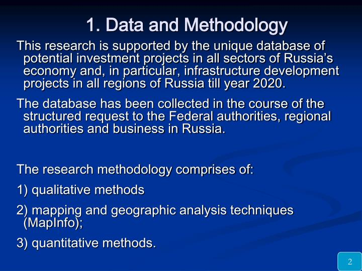 1 data and methodology