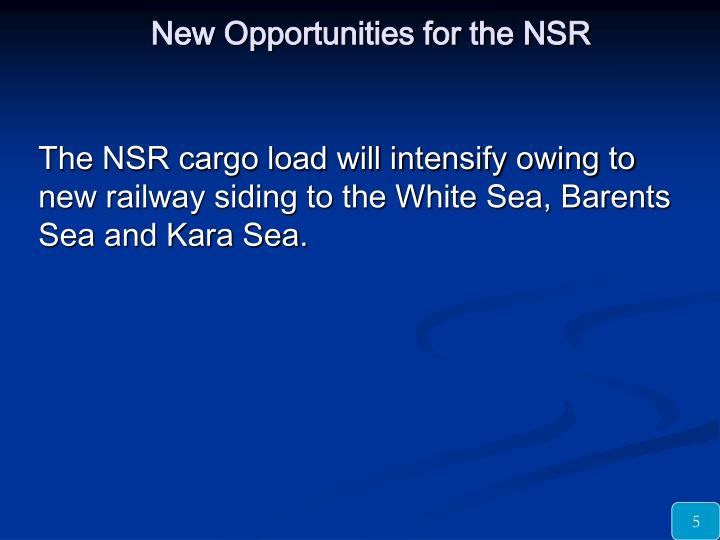 New Opportunities for the NSR