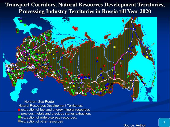 Transport Corridors, Natural Resources Development Territories, Processing Industry Territories in R...