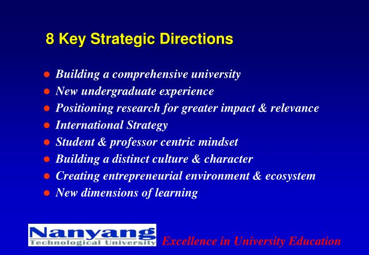 8 Key Strategic Directions