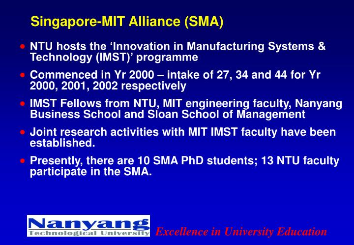 Singapore-MIT Alliance (SMA)