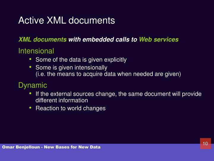 Active XML documents