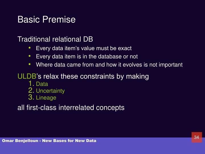 Basic Premise