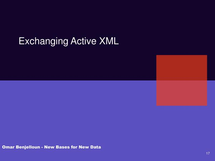 Exchanging Active XML