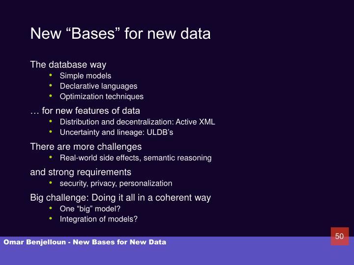 """New """"Bases"""" for new data"""