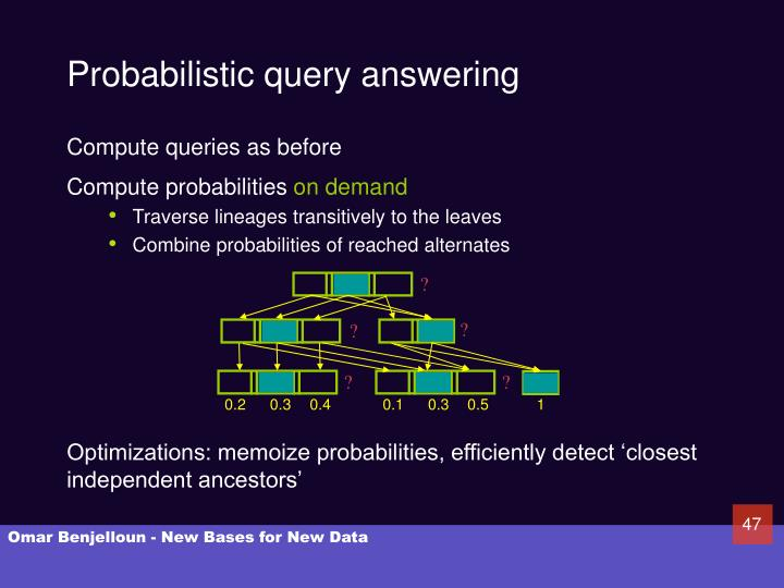 Probabilistic query answering