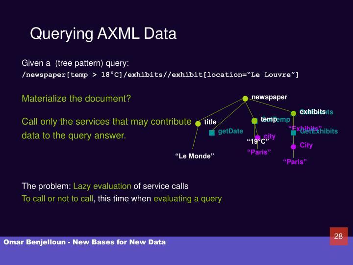 Querying AXML Data