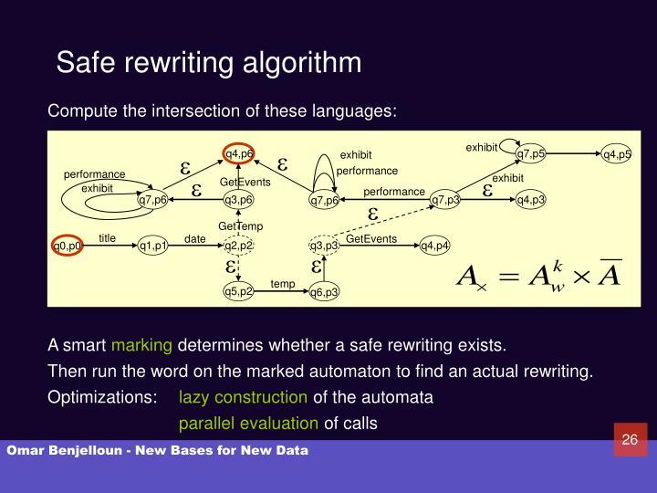 Safe rewriting algorithm
