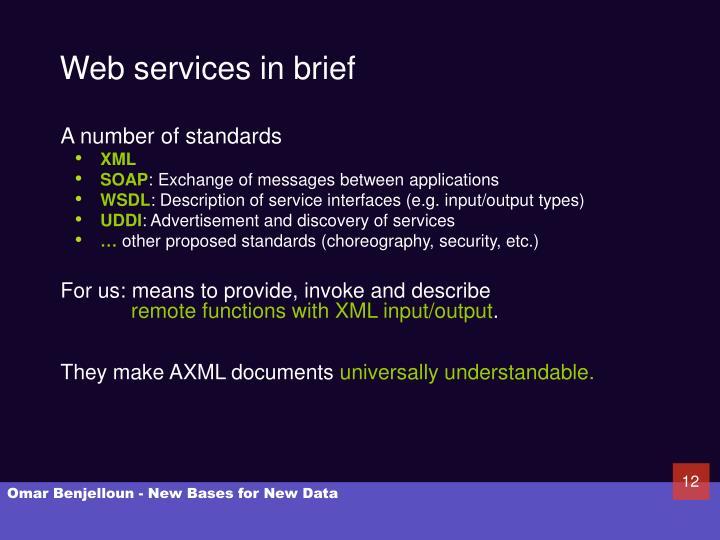 Web services in brief