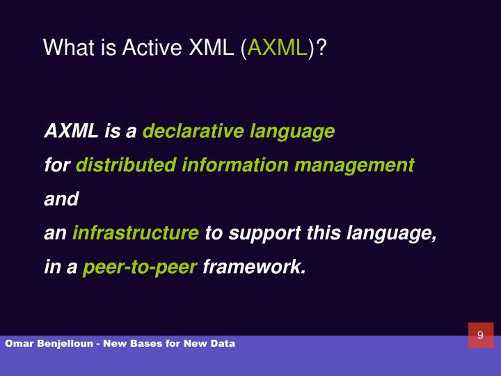 What is Active XML (