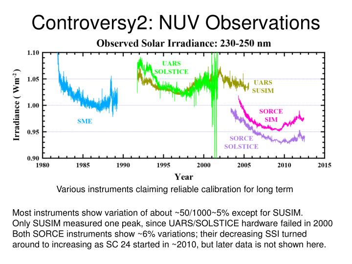 Controversy2: NUV Observations