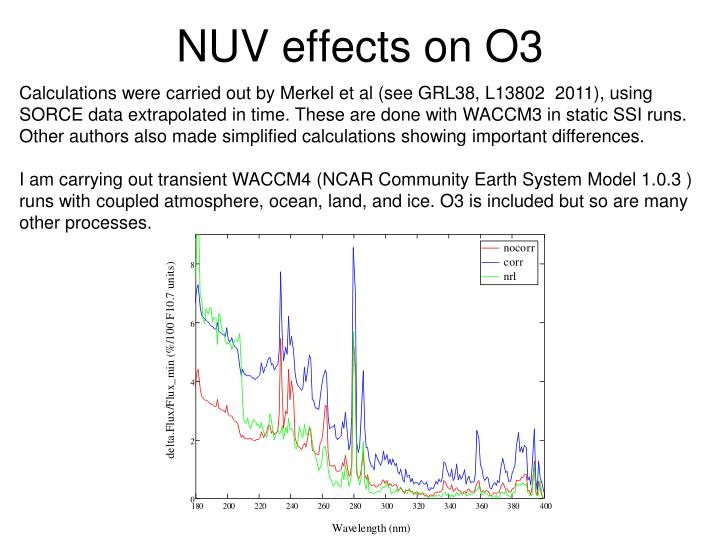 NUV effects on O3