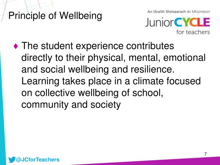 Principle of Wellbeing
