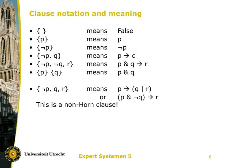 Clause notation and meaning