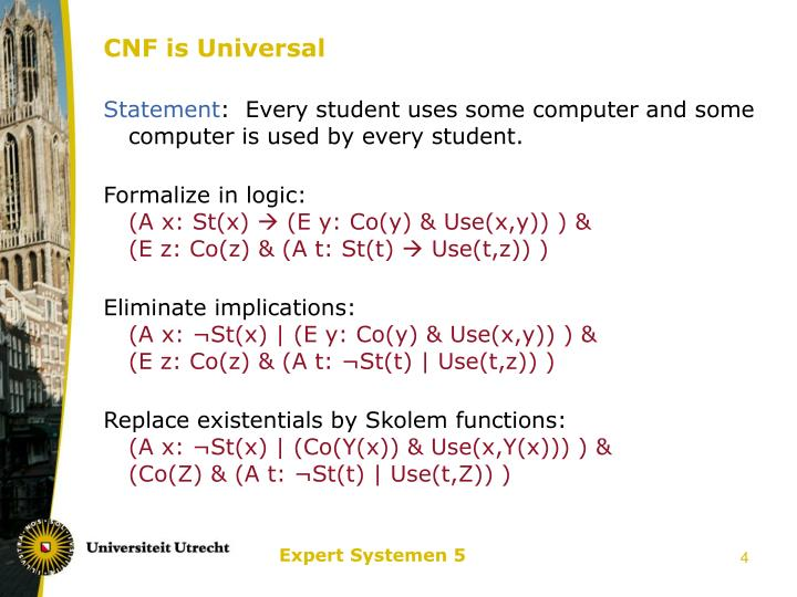 CNF is Universal
