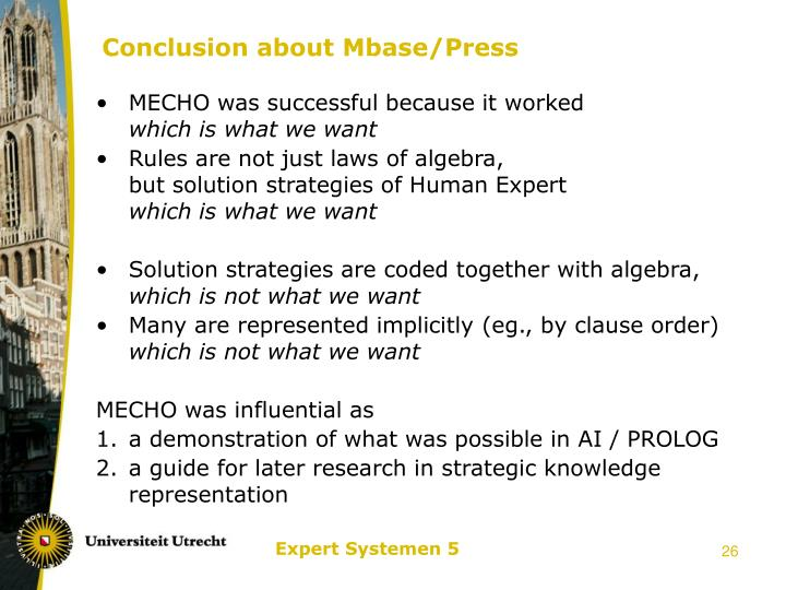 Conclusion about Mbase/Press