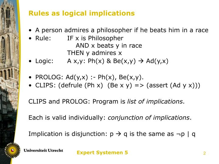 Rules as logical implications