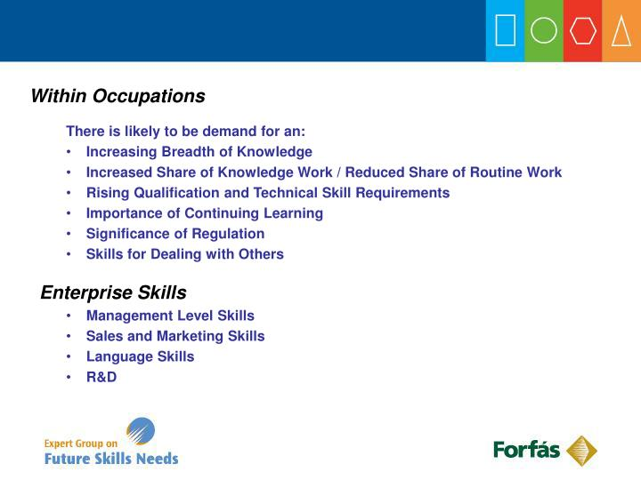 Within Occupations
