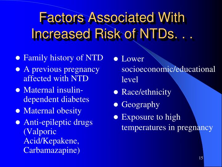 Family history of NTD