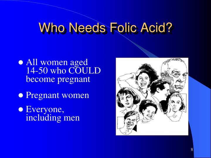 Who Needs Folic Acid?