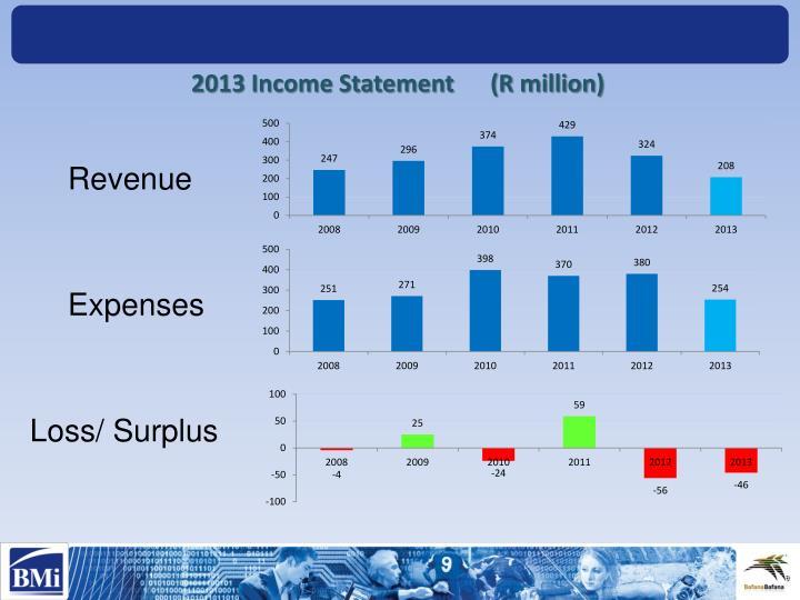 2013 Income Statement      (R million)