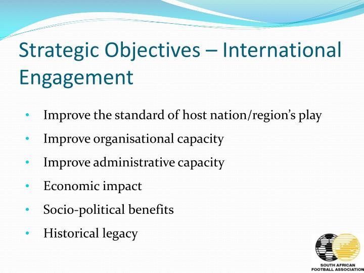Strategic Objectives – International Engagement