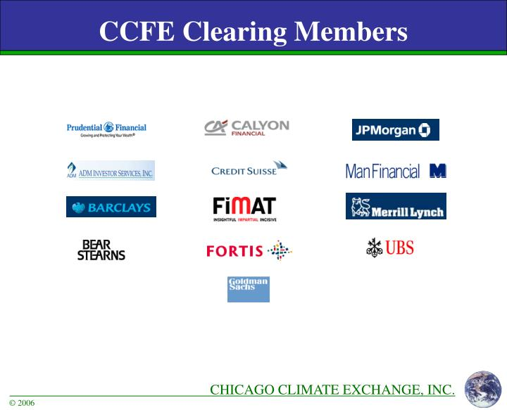 CCFE Clearing Members