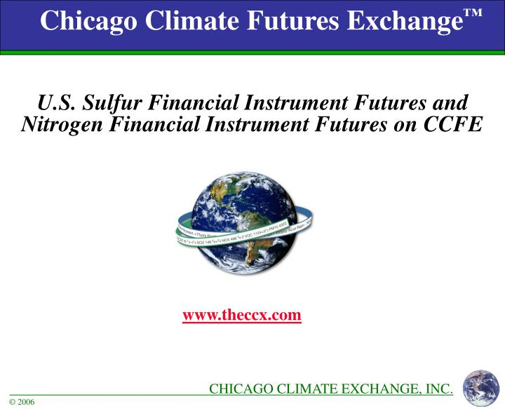 chicago climate futures exchange