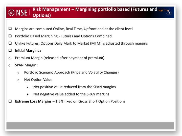 Risk Management – Margining portfolio based (Futures and Options)